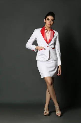 Women Suits Dheerajsharma White Skirt Suit Manufacturer From Mumbai