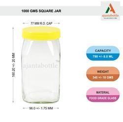 1 Kg Jam Jar Square Fancy