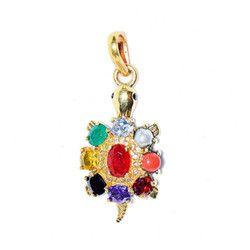 Navartna Kachua Pendant For Luck And Fortune