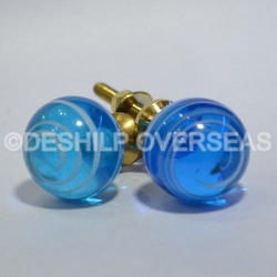 Sly Blue Glass Knobs