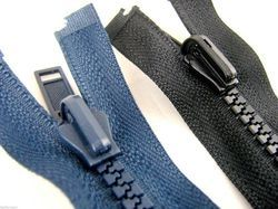 Vision Metallic Mat Black Teeth Closed End Da Zipper