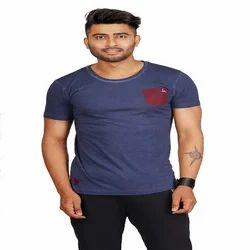 Mens Casual Plain T Shirt