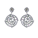 Diamond Gemstone Filigree Earrings