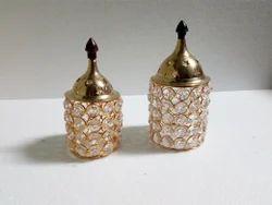 Brass Crystal Incense Burner