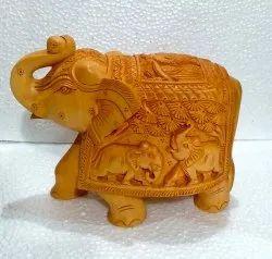 Wooden Carving Shikar Elephant