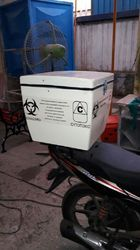 BIO MEDICAL WASTE COLLECTOR BIKE DELIVERY BOX