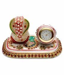 Marble Ganesh Ji With Watch