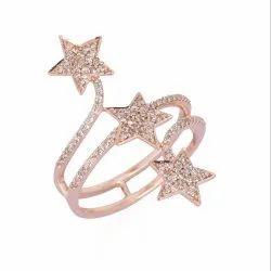 Three Star Gold Diamond Ring