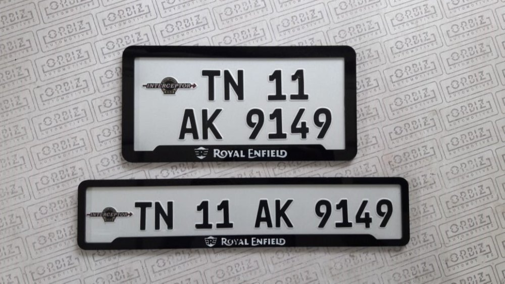 Registration Reflective Sheet Bike Number Plate Design For Motorcycle Rs 2499 Set Id 21383913930