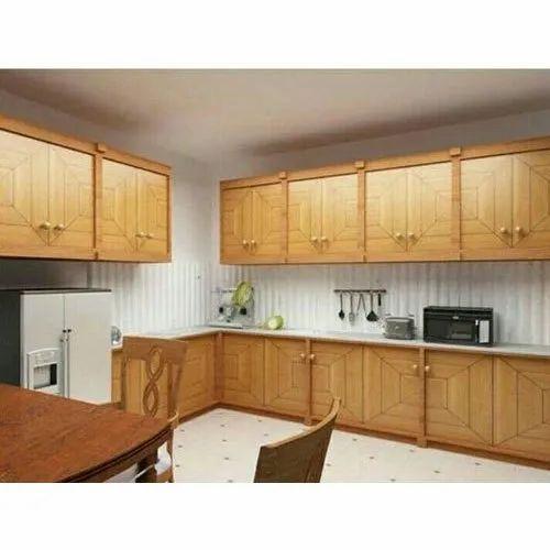 Pvc L Shape Modern Modular Kitchen Rs 850 Square Feet: Wooden Modular Kitchen Manufacturer From