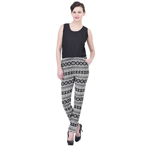 25276d996e1 Jumpsuits - Black   White Printed Jumpsuit Manufacturer from Surat