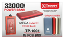 Troops Tp-1001 32000mah Metal Power Bank