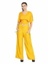 Regular Fit Women's Casual Rayon Palazzo Pants For Women