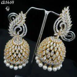 American Diamond Jhumkas