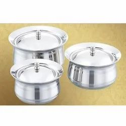 Stainless Steel Daisy Serving Bowl Set