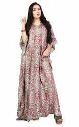 Ladies Casual Wear Long Cotton Kaftan