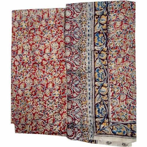 ca8a2ce7a7 Multicolor Cotton Kalamkari Dress Material, Rs 85 /meter   ID ...