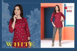 Watermelon Kiki Series 1001-1012 Stylish Party Wear Cotton Satin Kurti