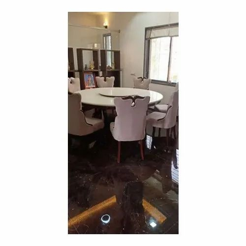 Cream Wooden And Marble Dining Table Set Rs 15000 Set Viswakarama Interior Disigners And Decorators Id 21213777573