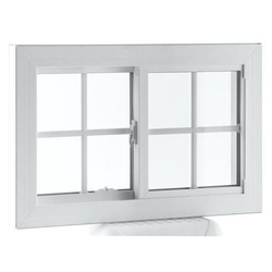 Japanese Steel White Window Frame