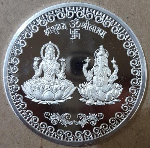 Laxmi Ganesh Silver Coin At Rs 450 Piece गणेश जी के