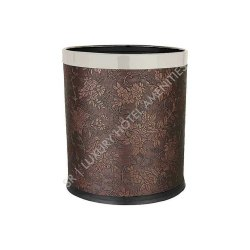 Leatherette Brown, Black Leather Dustbins for Hotels, Size: Satndard, Packaging Type: Box