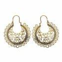 Attractive Bombshell Festival Brass Gold Plated Handmade Earring