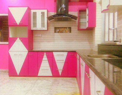 L Shaped Modular Kitchen Interior Designing Decoration Arihant