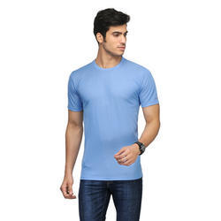 Mens Plain Blue T Shirt