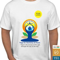 Polyester Yoga Day T Shirt