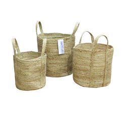 Jute Storage Baskets with Handle