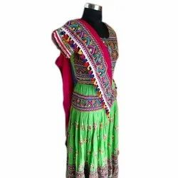 Cotton Party Wear Ladies Embroidered Lehenga Choli, Packaging Type: Packet