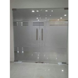 Plain Transparent Toughened Glass Door, Thickness: 8 - 12 Mm, for Office
