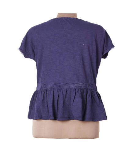 043c71804e89 Cotton Blue Half Sleeves Ladies Lace Top, Rs 180 /piece, Baba ...