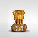 Light Yellow Gold Plated Ashoka Chakra