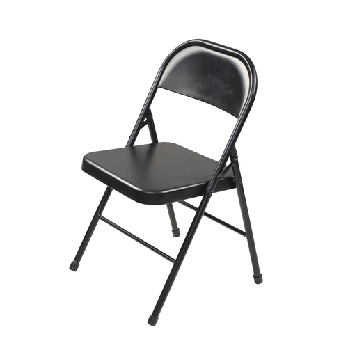 MIld Steel Black Folding Chair