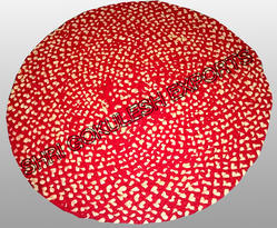 SGE Hand Woven Cotton Round Rug