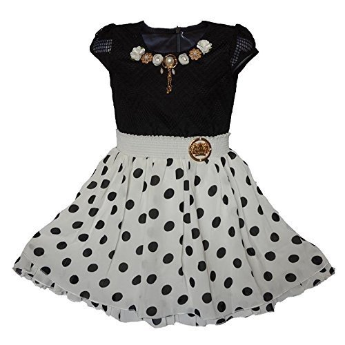 6527307ce093 Black And White Imported Girls Party Wear Frock For Girl Age 4 To 15 ...