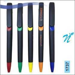 Plastic Slide Black Matt Coloured Pen