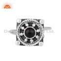 Natural Black Onyx Gemstone Oxidized 925 Silver Antique Design Rings