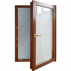 Brown Glossy Wooden Mesh Window, Size/Dimension: Approx 7-3 Feet
