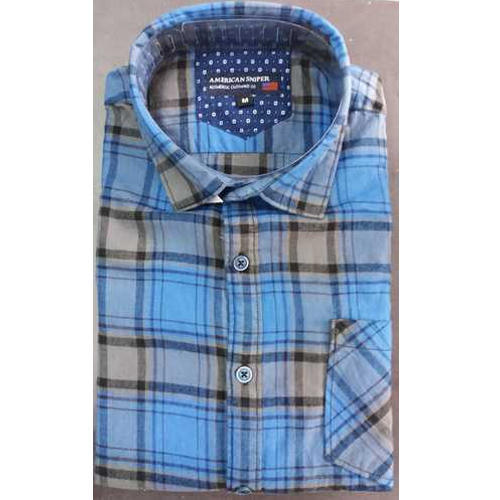 Mens Full Sleeves Cotton Check Pattern Shirt