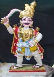 Marble Veerbhadra Statue
