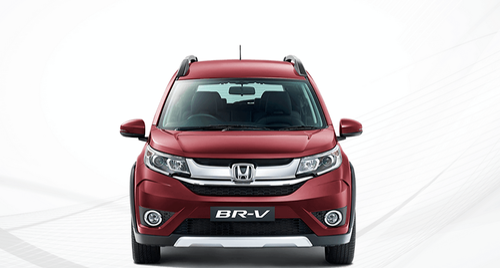 Red BR V Honda Car