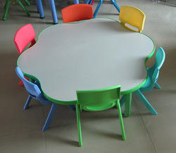 Semi Circle Table with Chairs