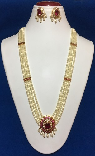 Raani Haar Alloy With Gold Plated Pearl Necklace Rs 2800 Piece