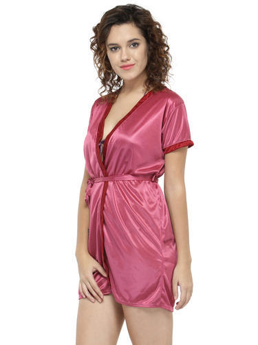 0fc41b585a Short Sleeve Satin Robe with Slip at Rs 104  piece