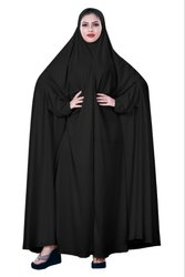 Women's Hosiery Plain Black Color Arabic Style Chaderi Burkha