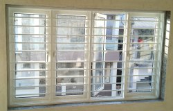Shreeji Squre Three In One Window With Grill, Size/Dimension: Custom