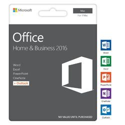 Microsoft Windows Office Home & Business 2016 for Macintosh